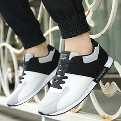 Desert Ram - Color Block Lace Up Sneakers