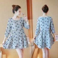 Ceres - Maternity Star Print A-Line Dress