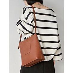 FROMBEGINNING - Faux-Leather Shoulder Bag