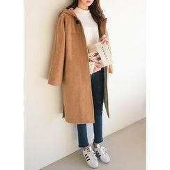 J-ANN - Wool Blend Hooded Coat