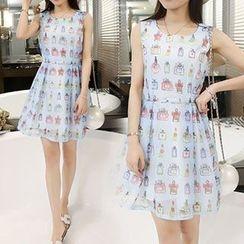 Arroba - Sleeveless Printed Dress