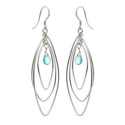 Keleo - Silver Apatite Earrings