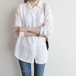 NIPONJJUYA - Pocket-Front Cotton Shirt