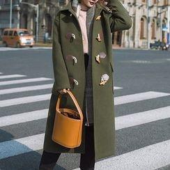 茜珞萊 - 連帽牛角扣大衣