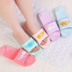 Homy Bazaar - Fishbone Bathroom Slippers