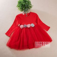 Showtime - Kids Flower-Accent Tulle Dress