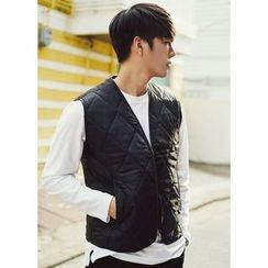 JOGUNSHOP - Quilted Zip Vest