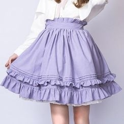 dollydelly - Tiered Frill Trim Skirt