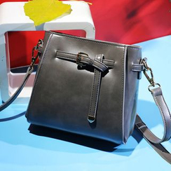 BeiBaoBao - Faux-Leather Buckled Cross Bag