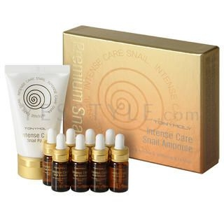 Tony Moly - Intense Care Snail Ampoule Set (9 items): Ampoule 4ml x 8 + Pack 50ml