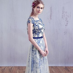 Gracia - Printed Ball Gown