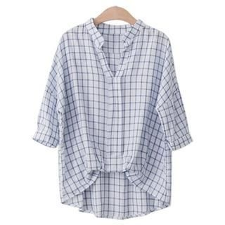 PEPER - Open-Placket Check Top