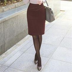 ode' - Stitch-Trim Pencil Skirt