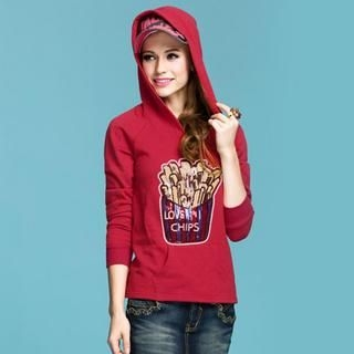 AngelCitiz - Sequined Hooded Pullover
