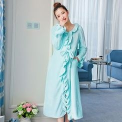 Dreamland - Ruffled Fleece Robe
