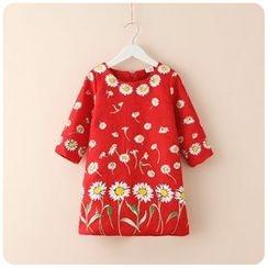 Rakkaus - 3/4-Sleeve Printed Dress
