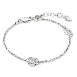 Kenny & co. - 925 Silver Bracelet in RH. Plated (Hearts & Arrow Crystals on Heart)
