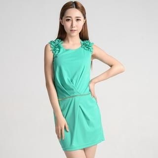 9mg - Petal-Shoulder Sleeveless Dress
