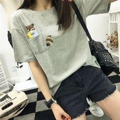 Adima - 印花短袖T恤