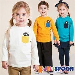 JELISPOON - Kids Pocket-Front Printed T-Shirt