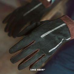 Lose Show - Contrast-Color Gloves