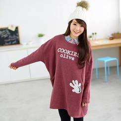 59 Seconds - Long-Sleeve Lettering Pullover Dress