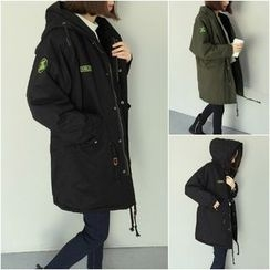 Tiny Times - Hooded Applique Parka
