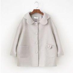 Shannon - 波浪领单排扣外套