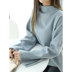 BBAEBBAE - Brushed-Fleece High-Neck Top