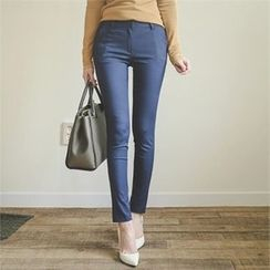 ode' - Flat-Front Skinny Pants