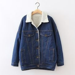 ninna nanna - Fleece-lined Denim Jacket