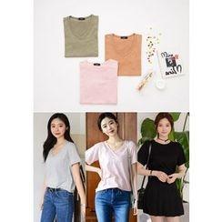 DEEPNY - Short-Sleeve Cotton T-Shirt (3 Designs)
