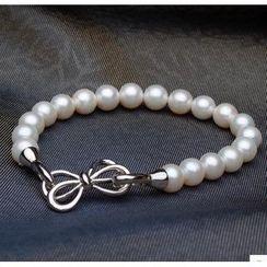 ViVi Pearl - Freshwater Pearl Butterfly Buckle Bracelet