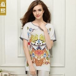 Ranee - Short-Sleeve Printed Top