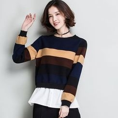 Romika - Print Mock Two-piece Sweatshirt