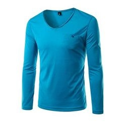 Blueforce - Long-Sleeve V-neck T-Shirt