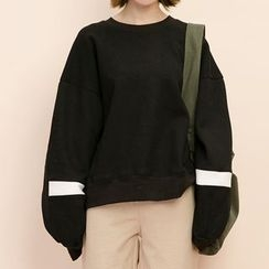 Heynew - Panel Drop Shoulder Sweatshirt