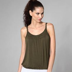 Almaz.C Lifestyle - Sleeveless Drawstring-Hem Top