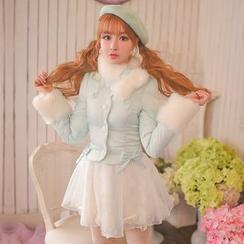 Candy Rain - Furry Padded Jacket