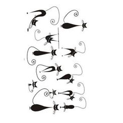 Alinda - Cat Faux Tattoo Stickers