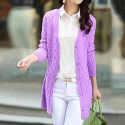 Cotton Candy - Cable Knit Cardigan