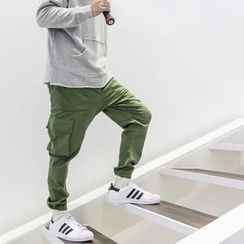YIDESIMPLE - Drawstring Cuffed Cargo Pants