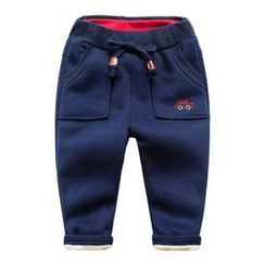 DEARIE - Kids Car Embroidered Drawstring Pants