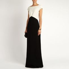 Dream a Dream - Sleeveless Color Block Evening Gown