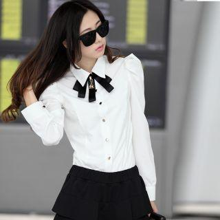 Mooiee - Puff-Sleeve Blouse