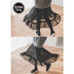 Chlo.D.Manon - Ruffled Chiffon-Hem Pullover Dress