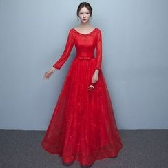 Loree - Long-Sleeve Evening Dress