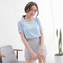 Tokyo Fashion - Short-Sleeve Paneled Top