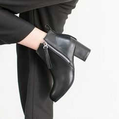 VIVIER - Zip-Side Ankle Boots