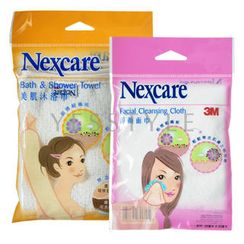 3M - Nexcare Special Bath Set (2 items): Bath and Shower Towel + Facial Cleansing Cloth